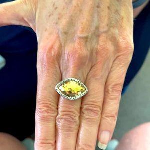 Women's/Unisex John Hardy Hammered Chain Ring 7.25